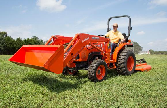 обработване на терени с трактор
